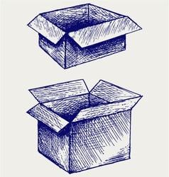 Empty cardboard box vector