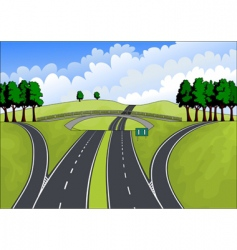 Highway in the summer landscape vector