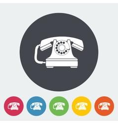 Vintage phone icon vector