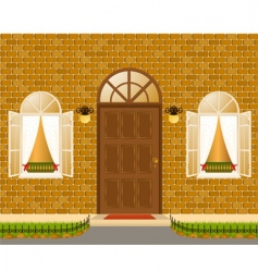 House exterior icons vector