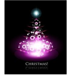 Christmas glowing tree vector