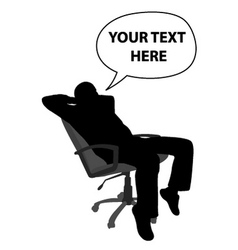 Man sitting and relaxing vector
