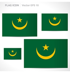Mauritania flag template vector
