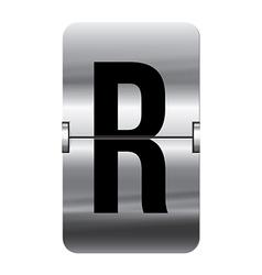 Alphabet silver flipboard letters r vector