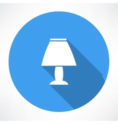 Night lamp icon vector