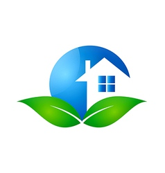 Home realty ecology logo vector