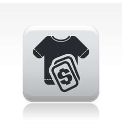 Tshirt sale icon vector