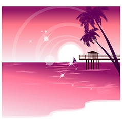 Seaside vacation background vector
