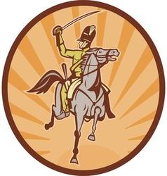 Hussar lighthorseman cavalry charging vector