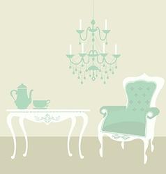 Living room vintage vector