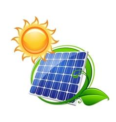 Solar panel or battery vector