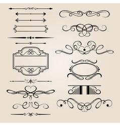 Set border design element vector