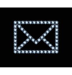 Diamond email icon vector