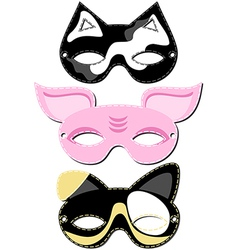 Animal mask design vector
