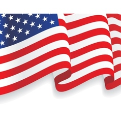 Background with waving american flag vector