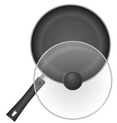 Frying pan 02 vector