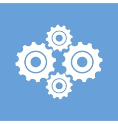 Mechanism white icon vector