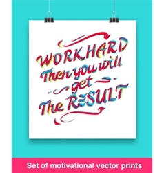 Vecor set of motivation quote mock up vector