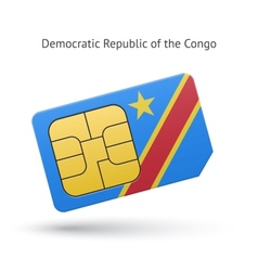 Democratic republic of the congo phone sim card vector