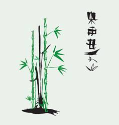 Ink bamboo vector