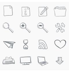 Sketch icon set vector