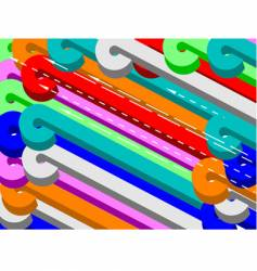 Color 3d shapes backdrop vector