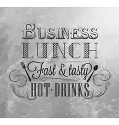 Business lunch coal 2 vector