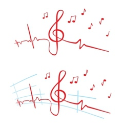 Ekg of music vector