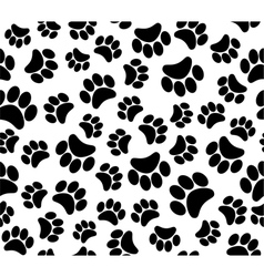 Background animal footprints vector