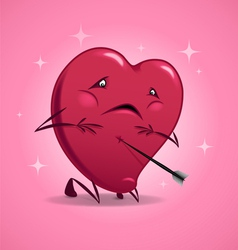 Valentines day wounded heart vector