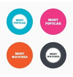 Most popular star icon most watched symbol vector