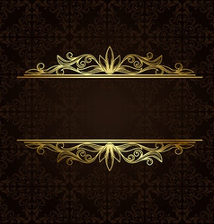 Ornate gold border vector