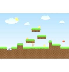 Arcade game world vector
