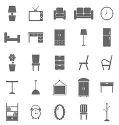 Furniture icons on white background vector