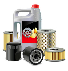 Engine oil and filters vector