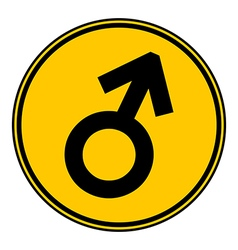 Gender male symbol button vector