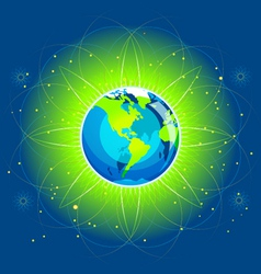 Earth beam america continents vector