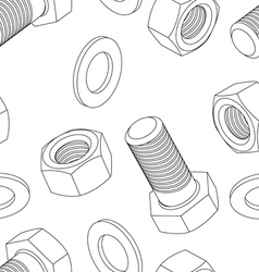 Stainless steel bolt and nut seamless wallpaper vector