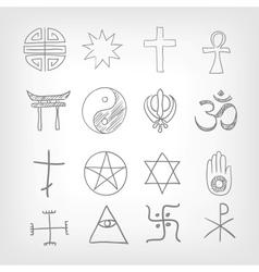 Religious symbolism vector