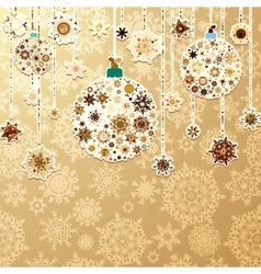 Christmas gold with baubles eps 8 vector