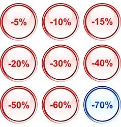 Discount buttons vector