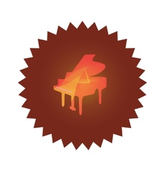 Icon with grand piano vector