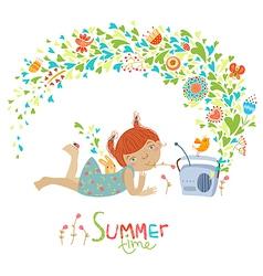 Cute summer vector