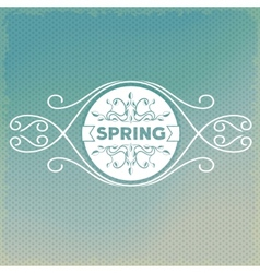 Spring label design with floral ornaments vector