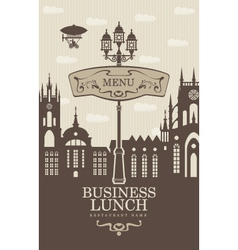 Business lunches vector