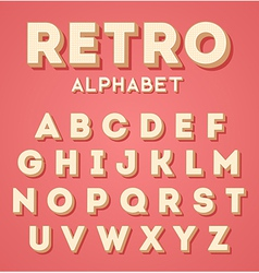 Colorful retro 3d characters set vector