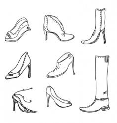 Shoe sketch vector