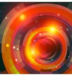 Mosaic spectrum background fire vector