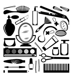 Hairdressing collection vector