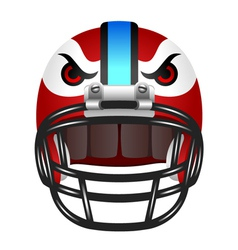 Football helmet with eyes vector